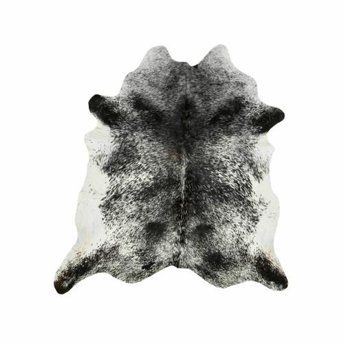 Black and White Salt & Pepper Cowhide Rug - Medium