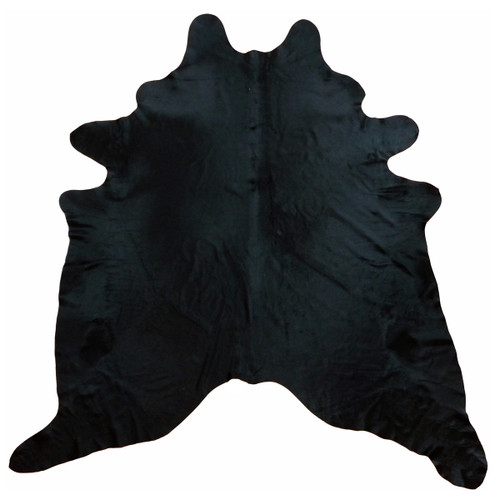 Black Dyed Cowhide - Large