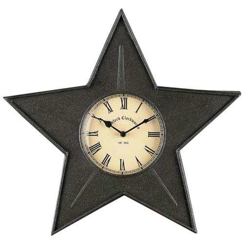 Black Iron Star Wall Clock