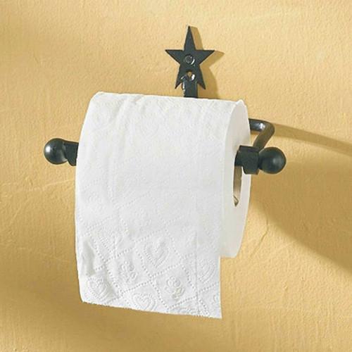 Black Star Toilet Paper Holder