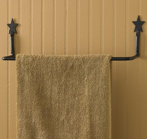Black Star Towel Bar - 16 Inch