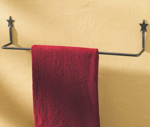 Black Star Towel Bar - 24 Inch