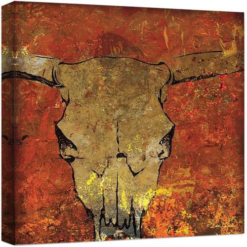 Blazing Skull Canvas Art