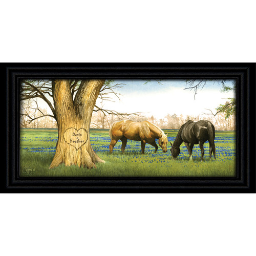 Bluebonnet Spring Personalized Horse Print - Large