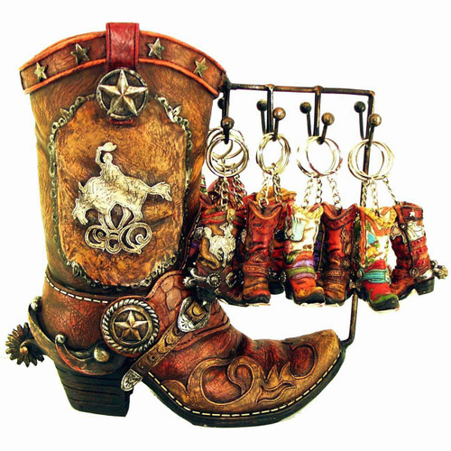 Boot Display with 24 Key Chains