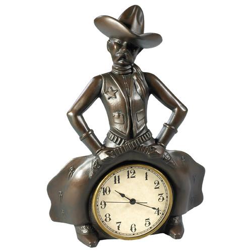 Bowlegged Cowboy Clock - Bronze