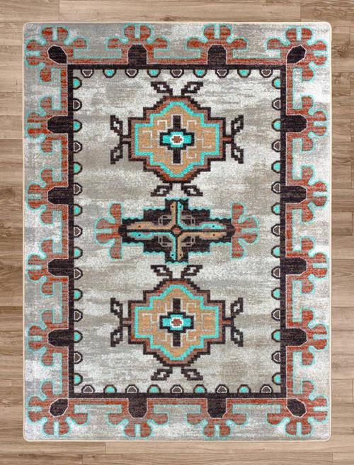 Bozeman Turquoise Rug - 5 x 8