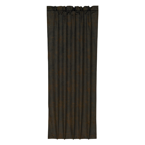 Chocolate Faux Leather Curtain