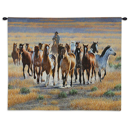 Bringing Them In Wall Tapestry