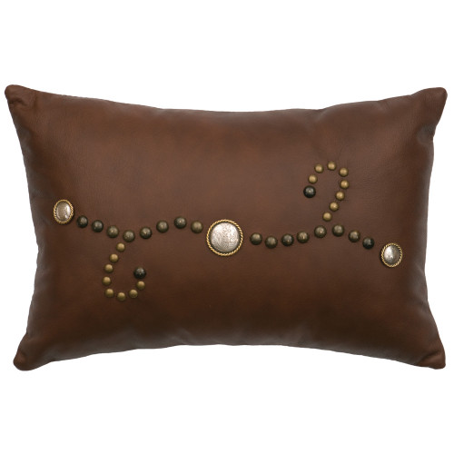 Sierra Brown Leather Pillow