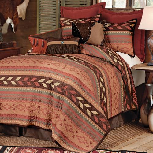 Broken Arrow Quilt Bed Set - Full/Queen
