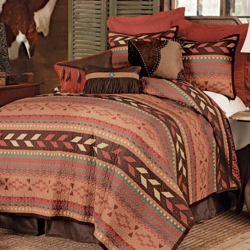 Broken Arrow Quilt Bed Set - Twin - OVERSTOCK
