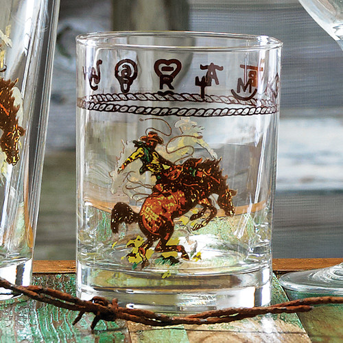 Bronco Buster Double Old Fashioned (Set of 4)