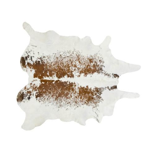 Brown and White Salt & Pepper Cowhide Rug - Medium