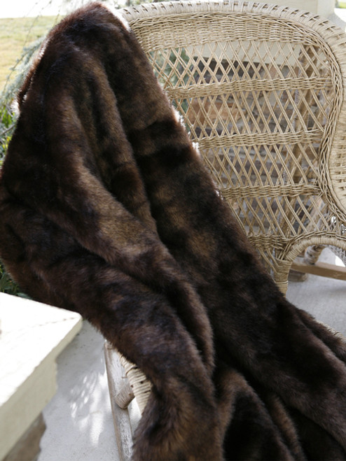 Brown Bear Microfiber Faux Fur Throw
