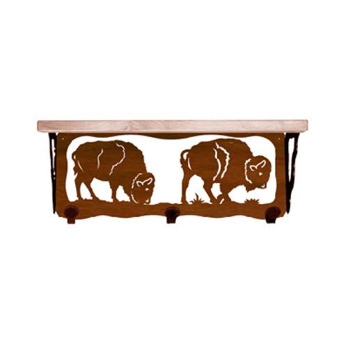 Buffalo 20 Inch Pine Hook Shelf