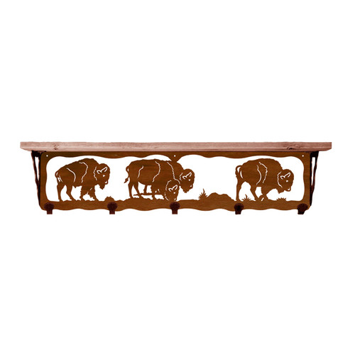 Buffalo 34 Inch Pine Hook Shelf