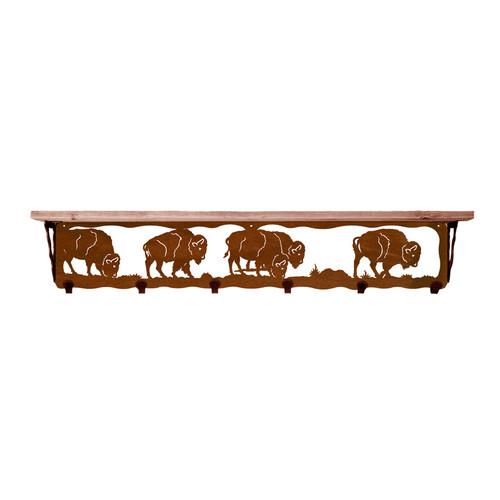 Buffalo 42 Inch Pine Hook Shelf