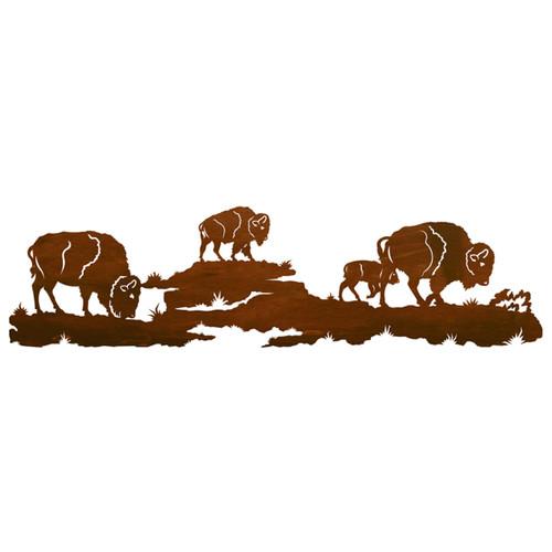 Buffalo Herd Wall Art - 57 Inch