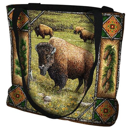 Buffalo Lodge Tote Bag