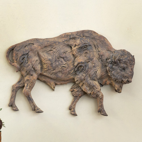 Buffalo Roam Wall Sculpture