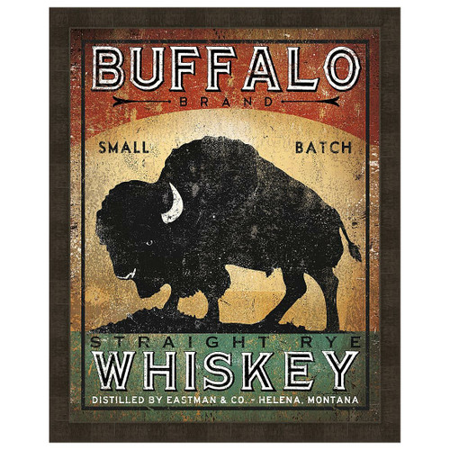 Buffalo Whiskey Framed Print