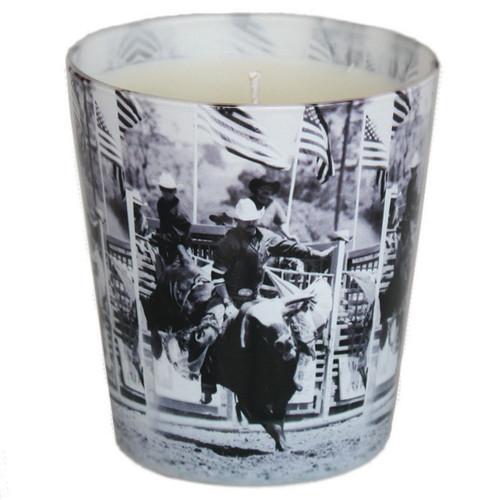 Bull Rider Candle