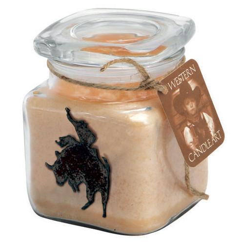 Bull Rider Candle Art Jar