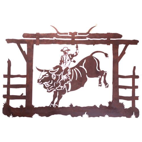 Bull Rider Metal Wall Art
