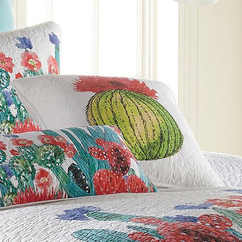 Cactus Flowers Square Pillow