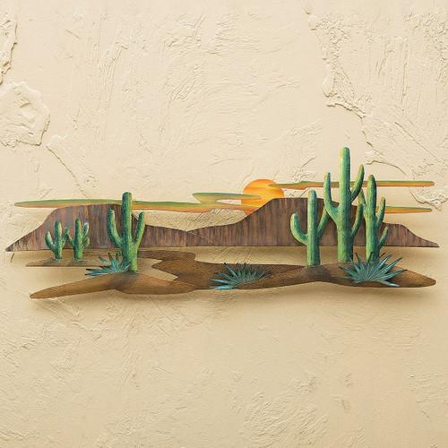 Cactus Landscape 3-D Metal Wall Art
