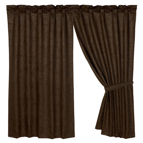 Caldwell Cowhide Faux Tooled Leather Curtain