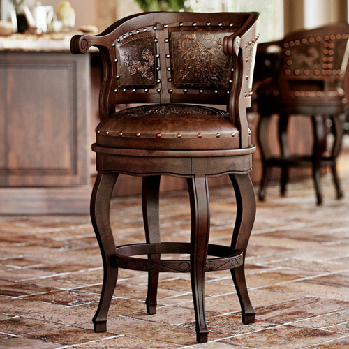 Cardenal Counter Stool - Antique Brown