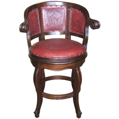 Cardenal Swivel Barstool - Colonial Red