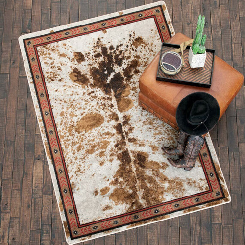 Cattle Drive Spotted Brindle Rug - 4 x 5