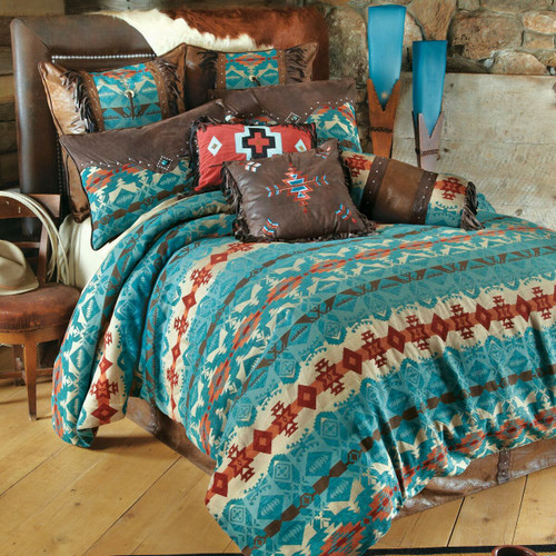 Cerrillos Hills Turquoise Bed Set - King