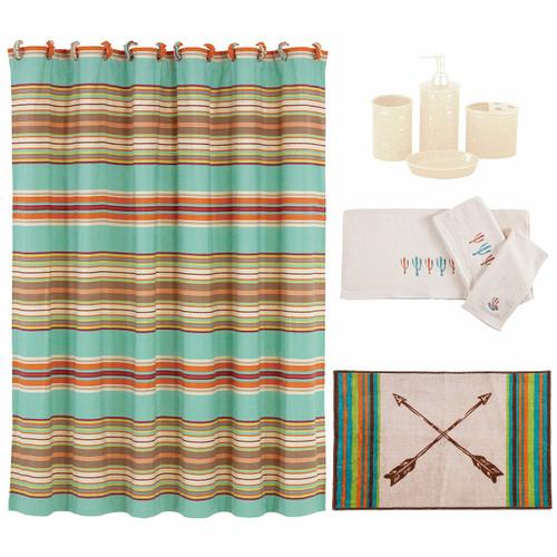 Cheyenne Stripes 21 Piece Bath Set