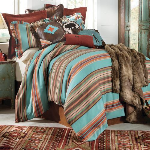 Cheyenne Stripes Bed Set - Super Queen