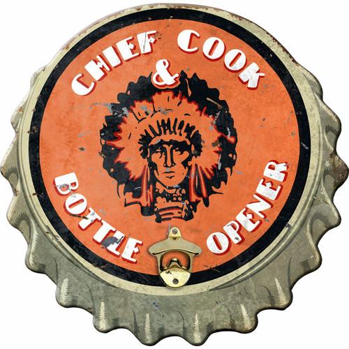 Chief Cook Wood Bottle Opener