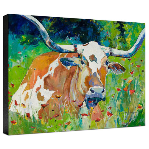 Chilling in the Wildflowers Gallery Wrapped Canvas