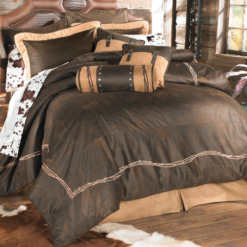 Chocolate Barbed Wire Bed Set - Queen