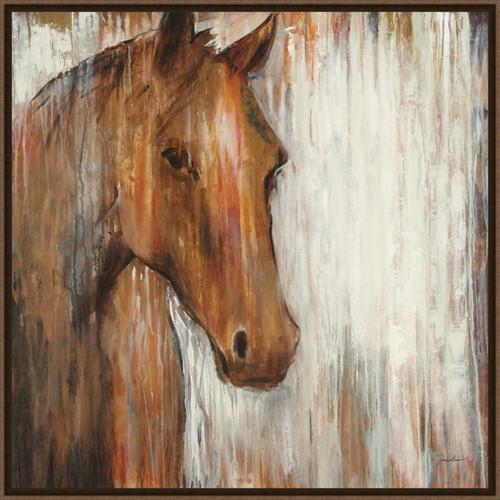 Chocolate Pony Framed Canvas