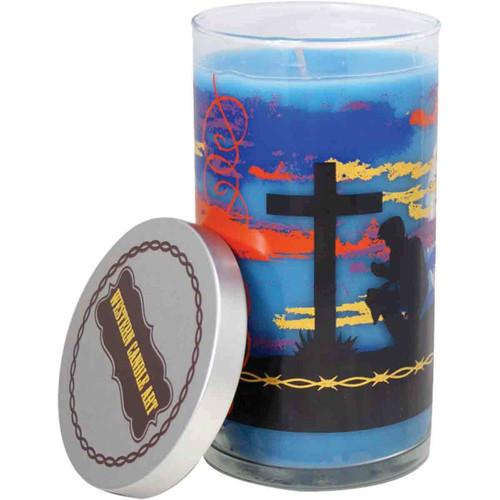 Christian Cowboy Candle