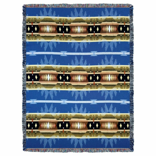 Cimarron Blue Tapestry Throw