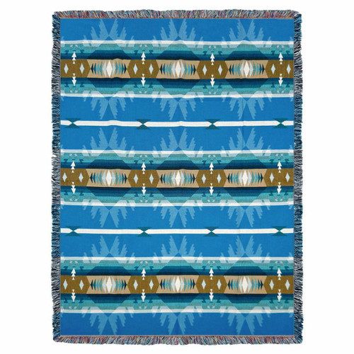 Cimarron Turquoise Tapestry Throw