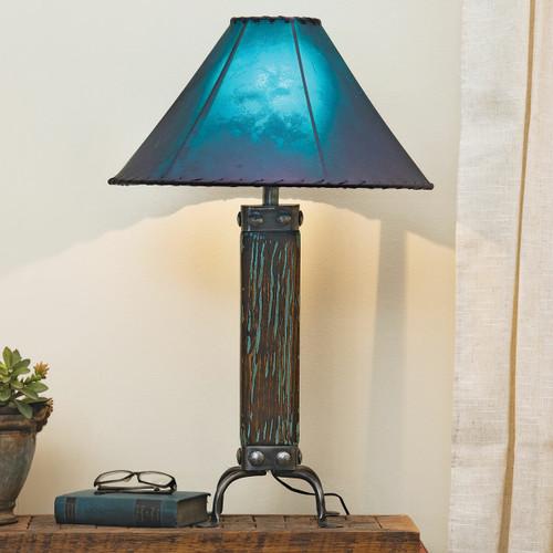 Cloudburst Turquoise Wood Table Lamp