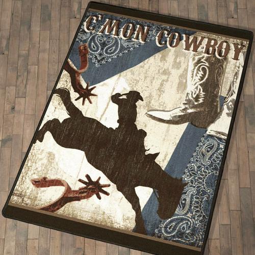 C'mon Cowboy Rug - 4 x 5