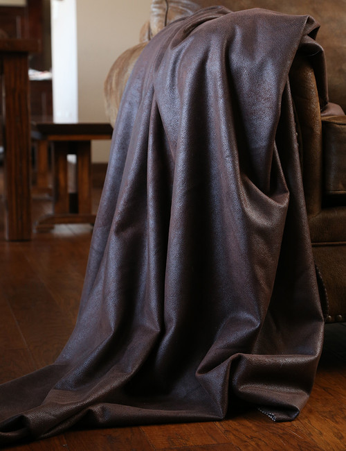 Cocoa Faux Leather Throw