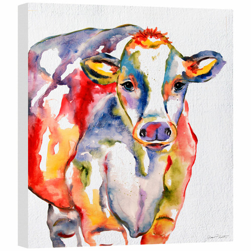 Colorful Cow Gallery Wrapped Canvas
