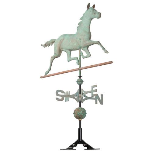 Copper Verdigris Stallion Weathervane